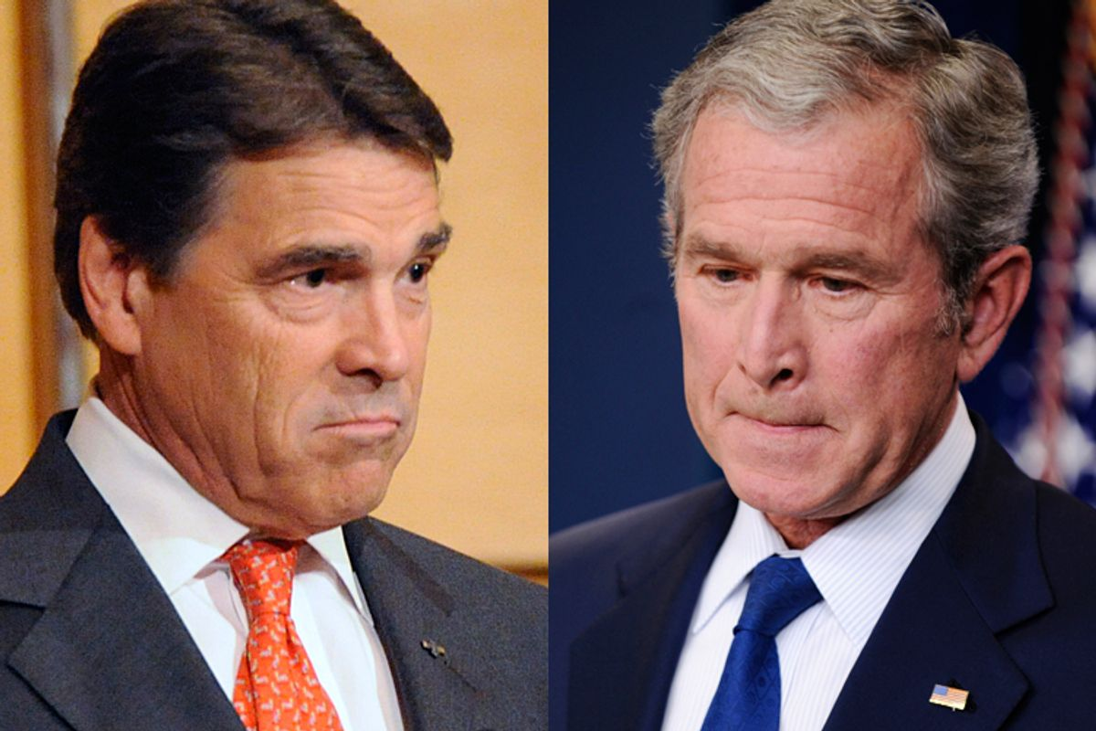 Gov. Rick Perry and former President George W. Bush