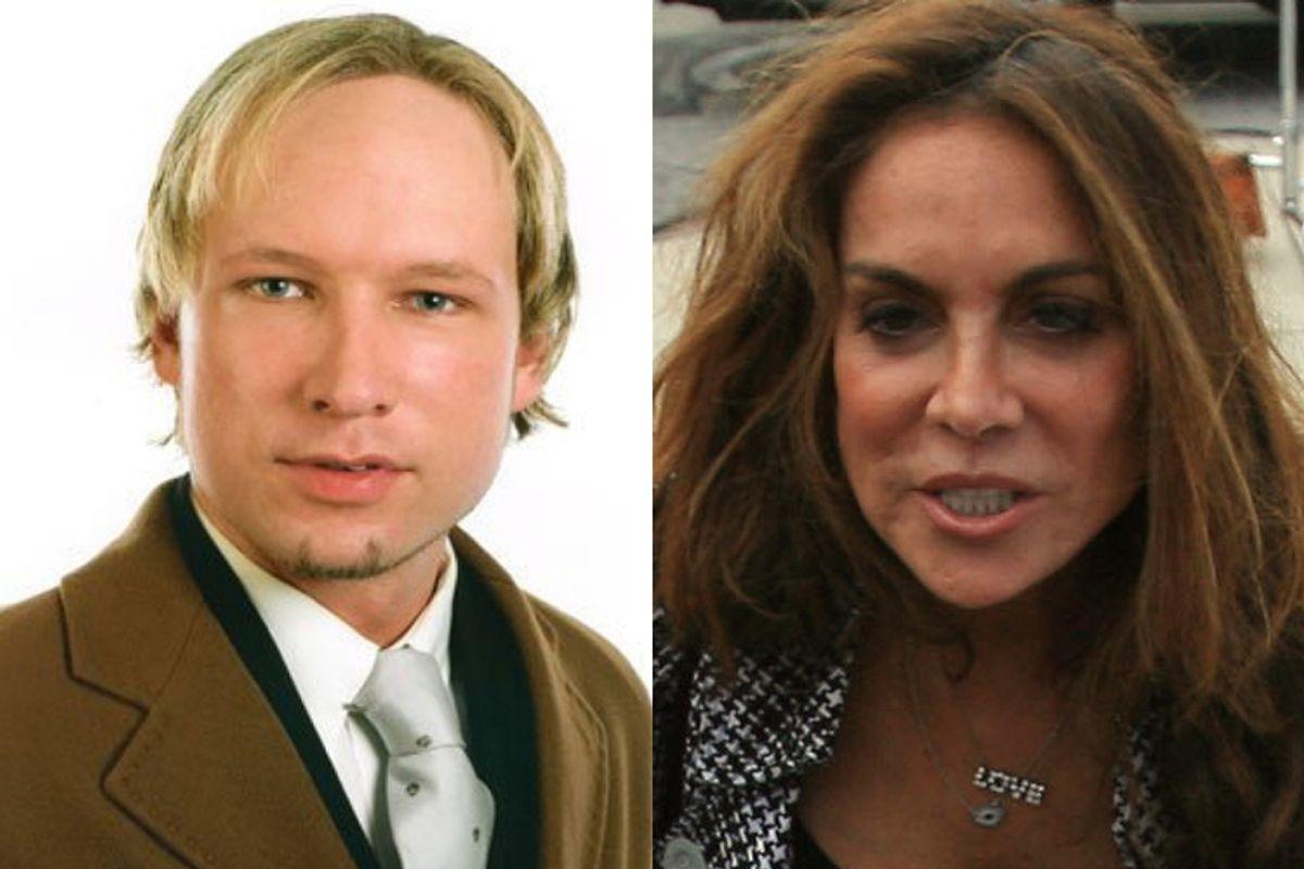 Anders Breivik and Pamela Geller