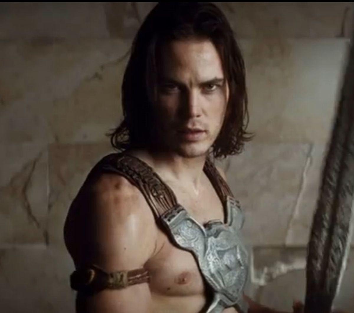 Taylor Kitsch as John Carter of Mars, as shirtless as God intended.