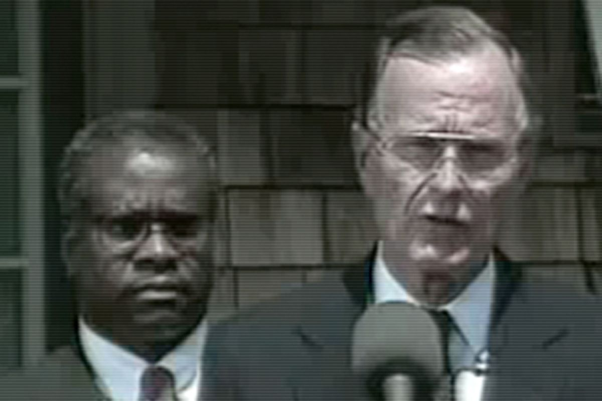 Clarence Thomas and former president George H.W. Bush