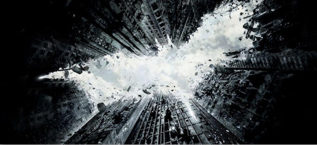 """The Dark Knight Rises"" teaser poster."