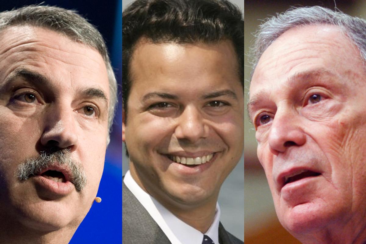 Thomas Friedman, John Avlon and Michael Bloomberg