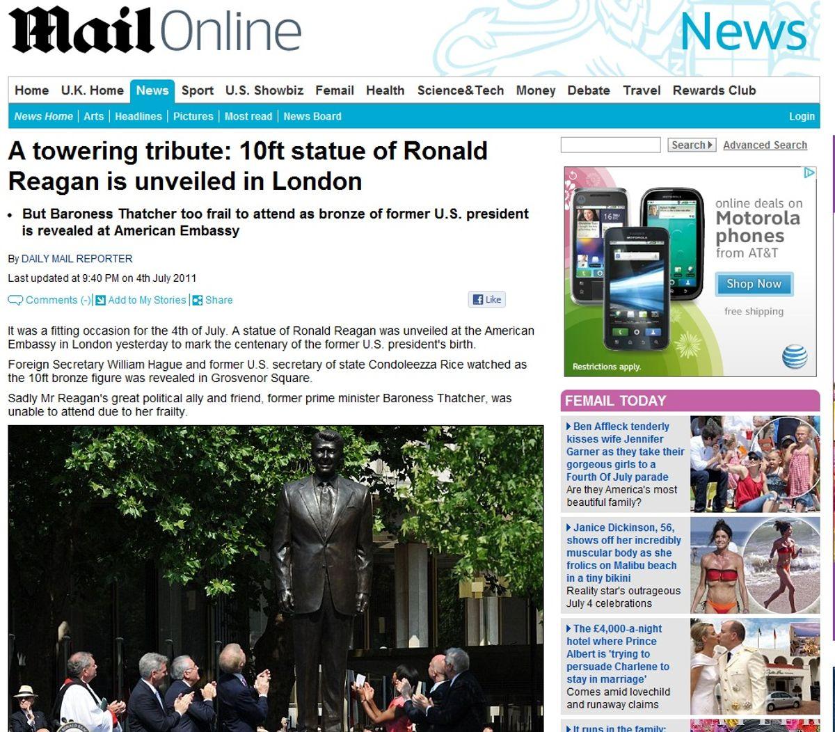 Poor Baroness Thatcher!