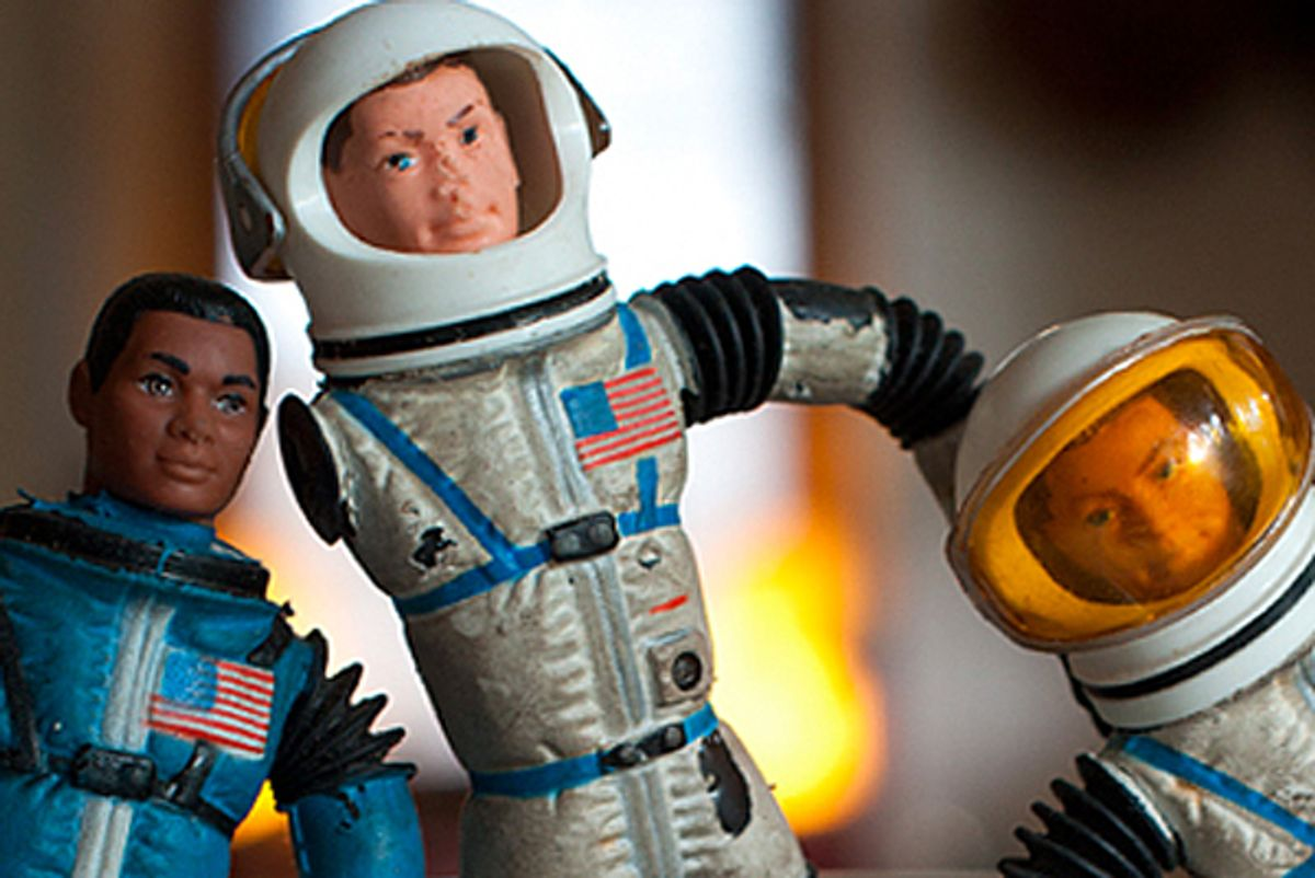 A photo of the author's Major Matt Mason figurine.