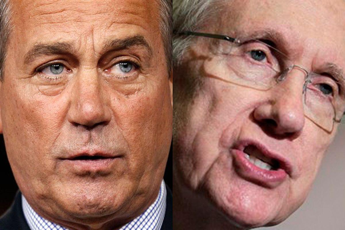 John Boehner and Harry Reid