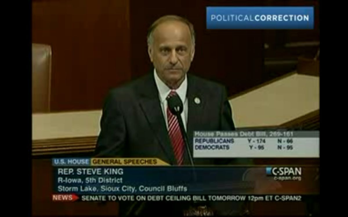Rep. Steve King (R-Iowa) thinks free birth control could end the human race