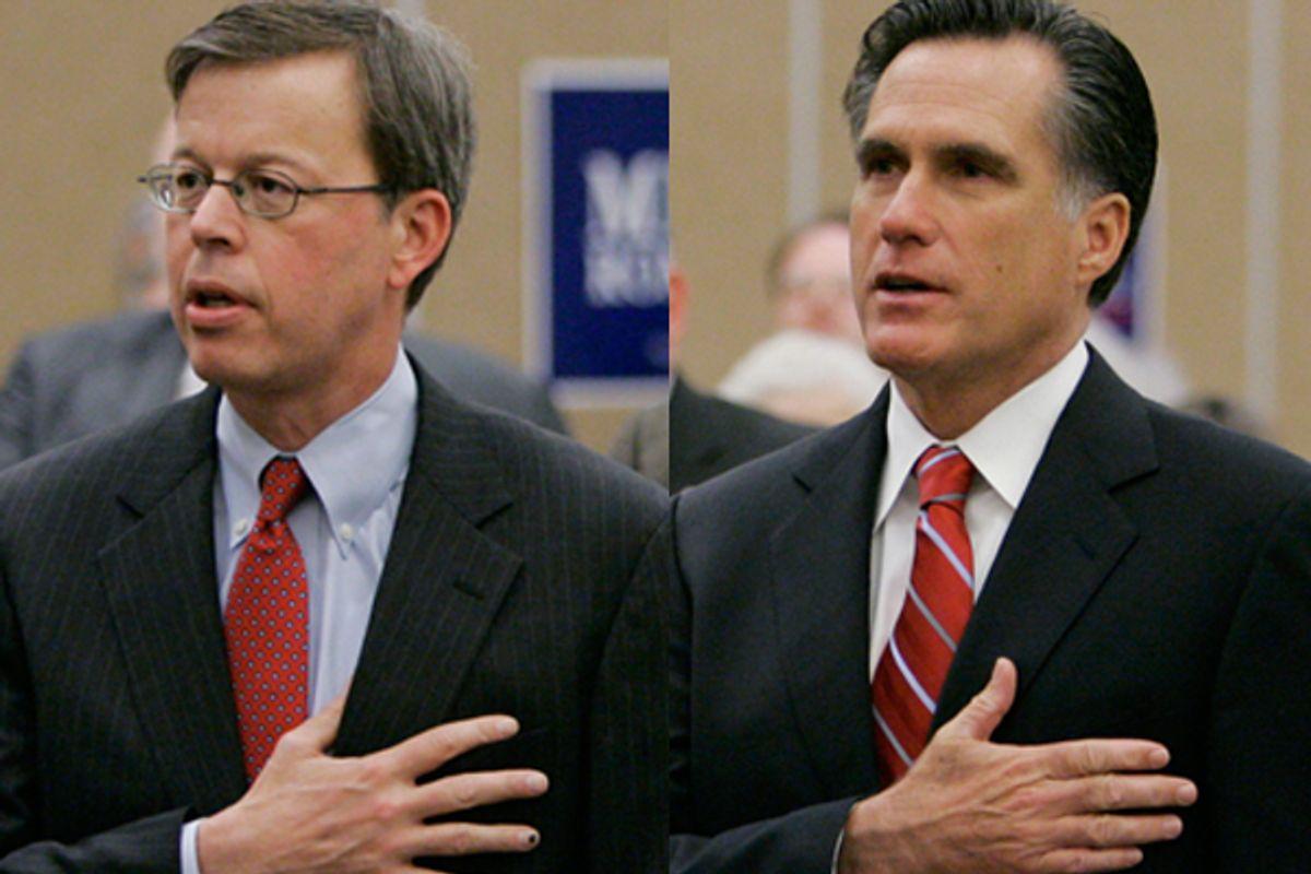 Jim Talent and Mitt Romney