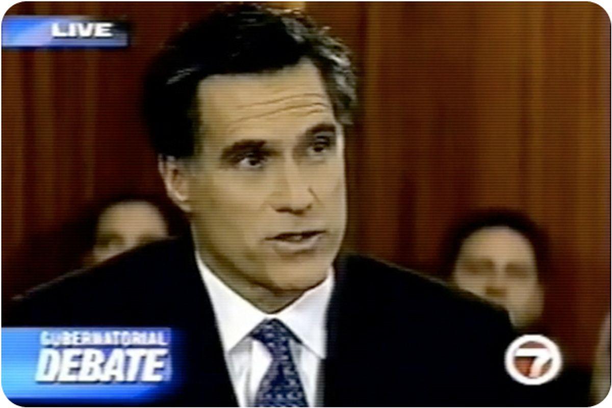 Mitt Romney during his 2002 run for governor of Massachusetts