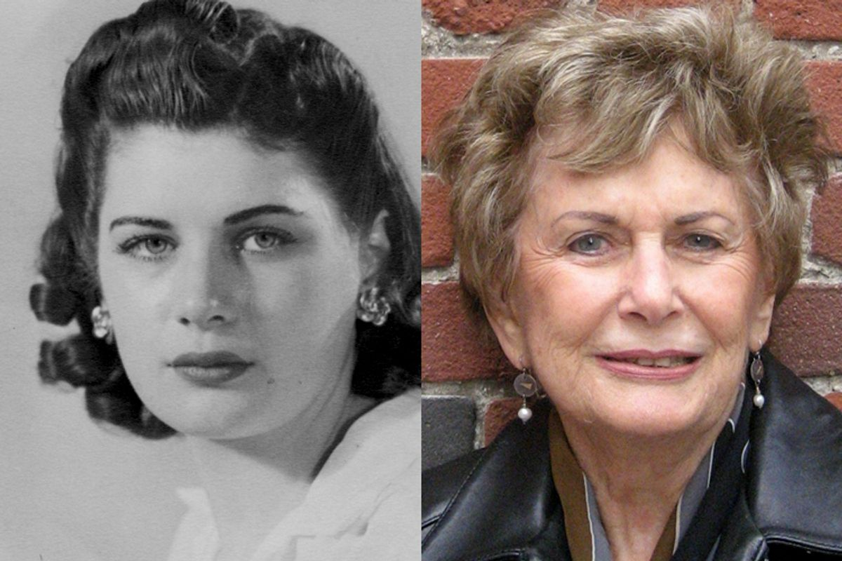 The author as a young woman and as she appears now