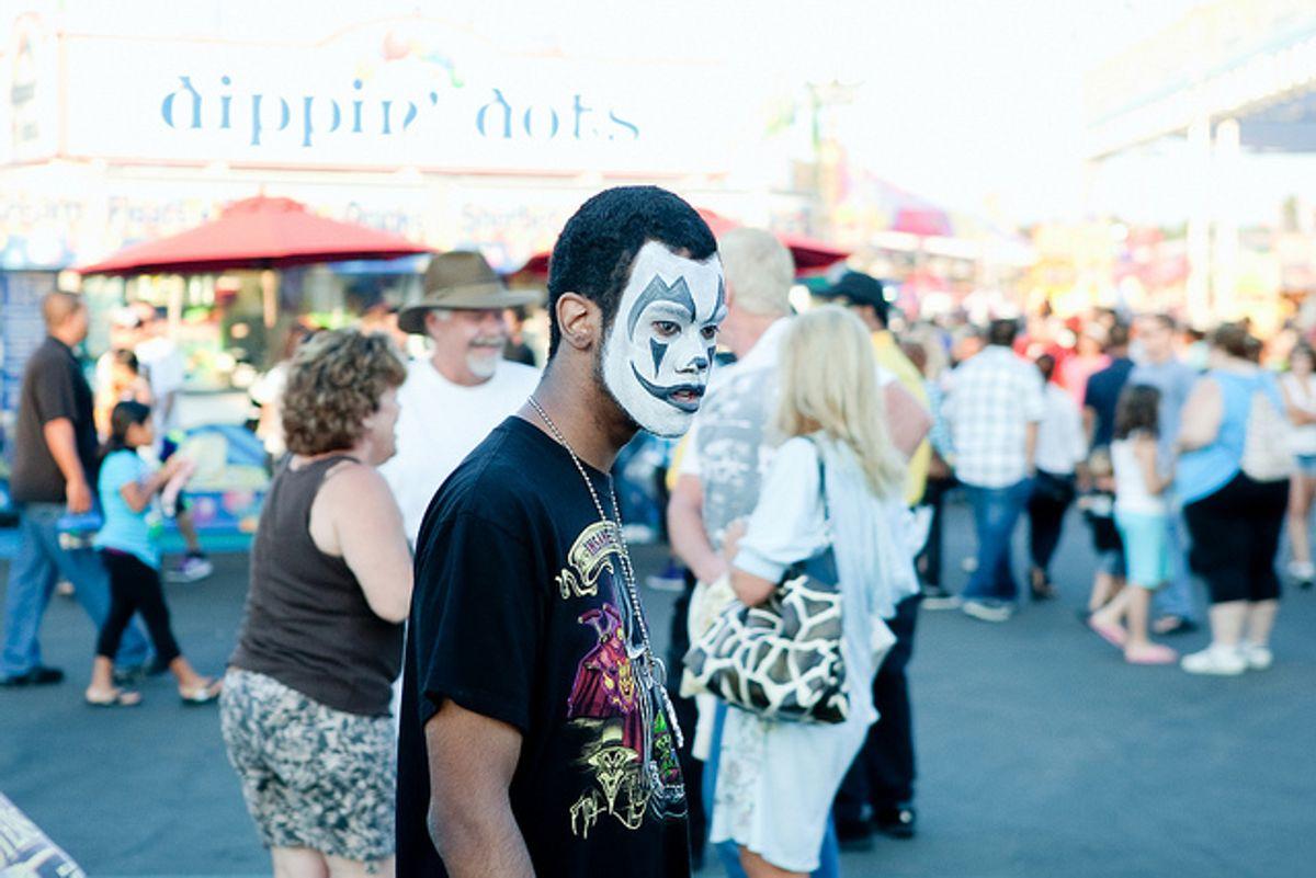 The clown makeup worn by self-proclaimed Juggalos.   (Jared_eberhardt)