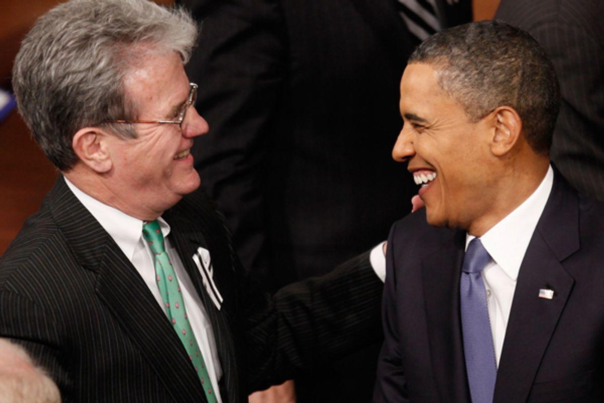Tom Coburn and Barack Obama