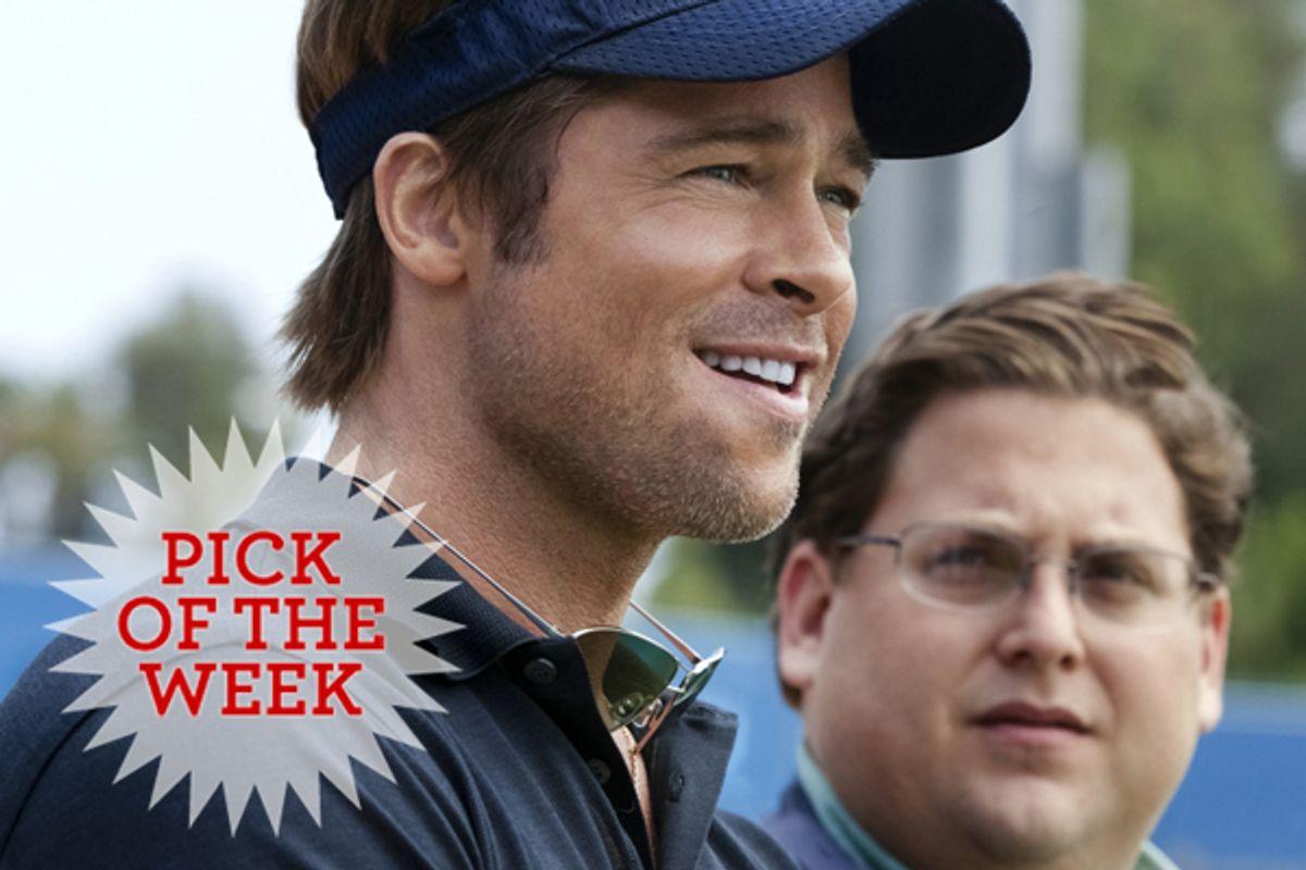 """Brad Pitt and Jonah Hill in """"Moneyball"""""""