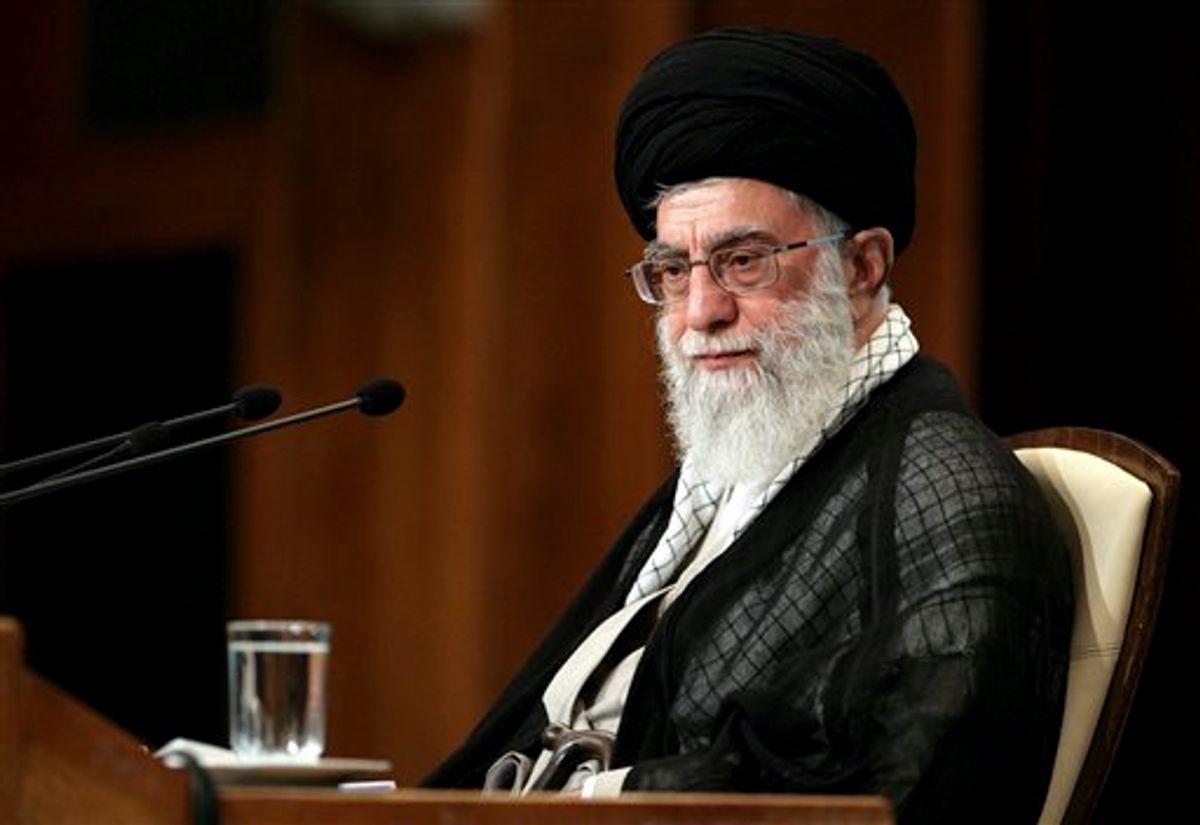 Iranian supreme leader Ayatollah Ali Khamenei, attends the opening of an international Islamic conference, in Tehran in 2011 (AP)