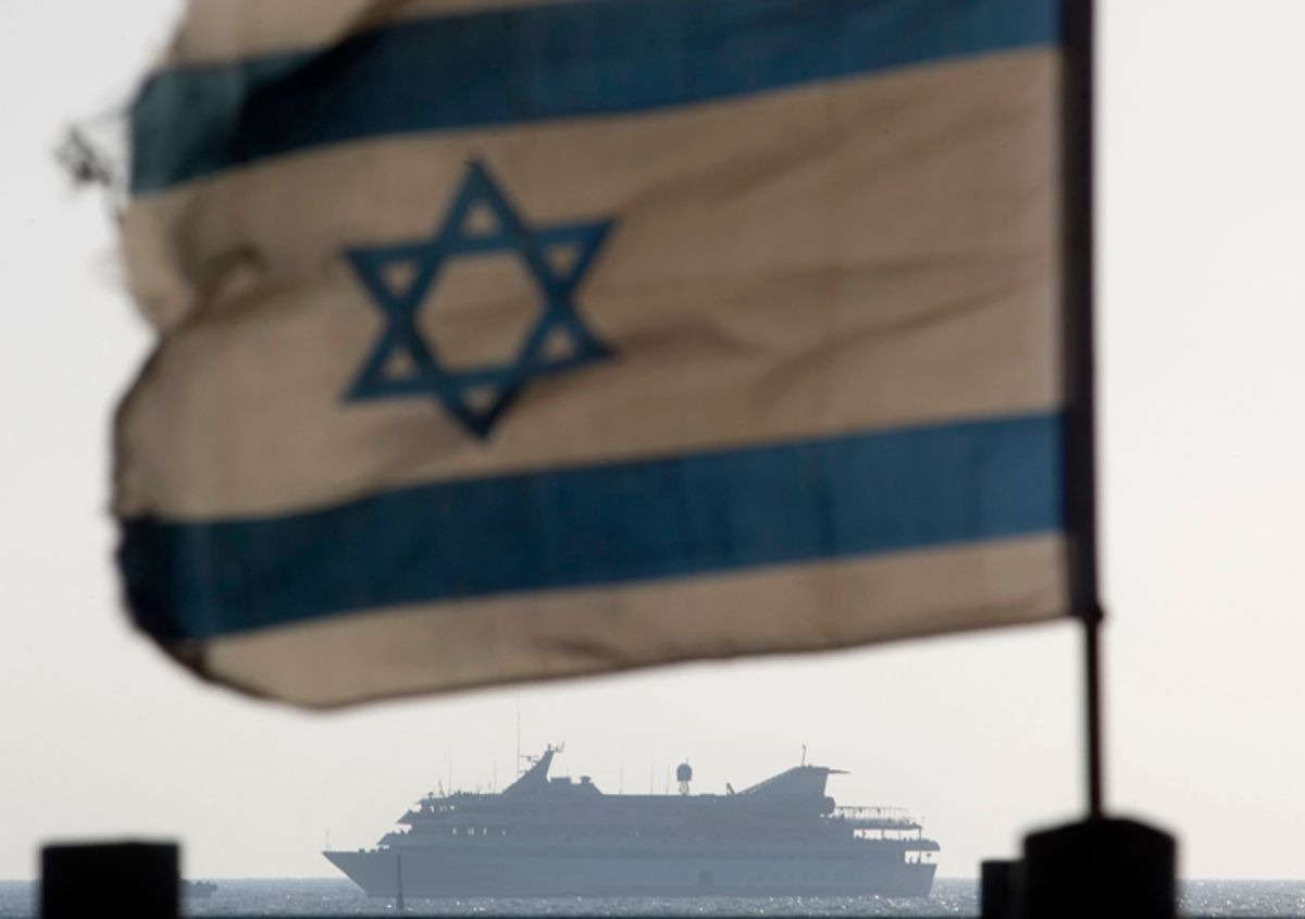 In this May 31, 2010 file photo the Mavi Marmara ship, the lead boat of a flotilla headed to the Gaza Strip which was stormed by Israeli naval commandos in a predawn confrontation, sails into the port of Ashdod, Israel.