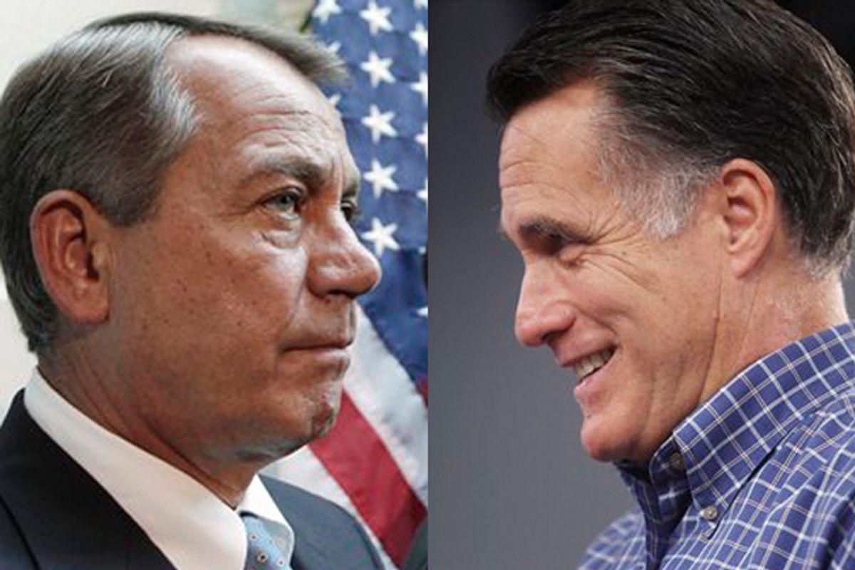 John Boehner and Mitt Romney   (AP/J. Scott Applewhite/Cheryl Senter)