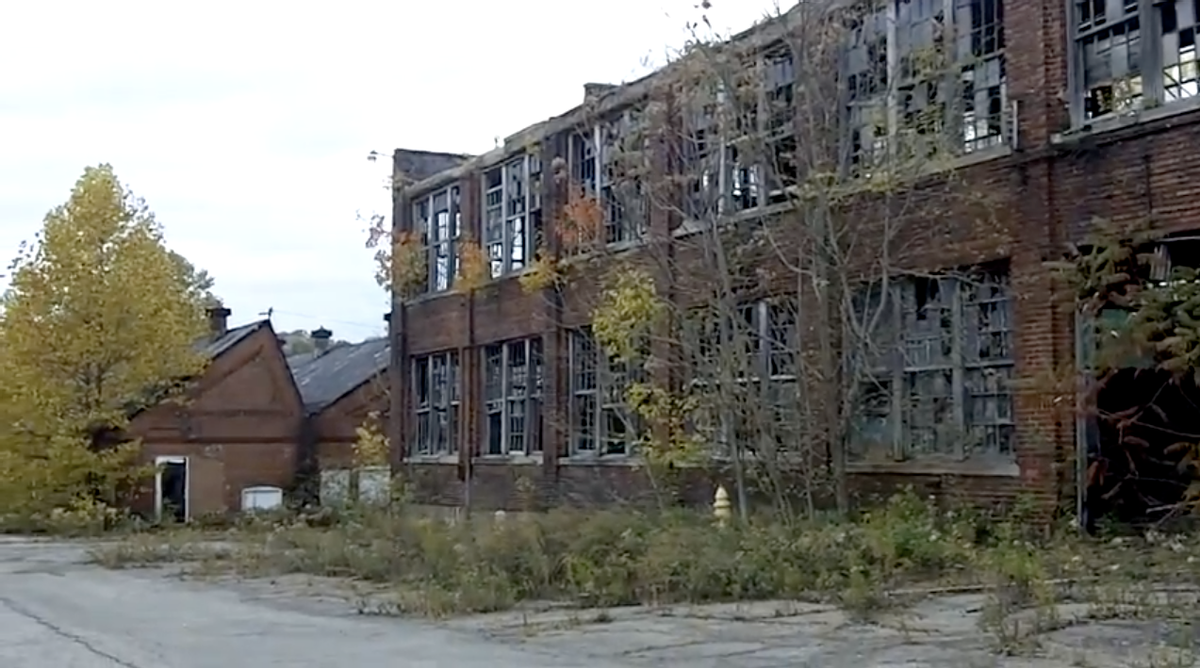 An abandoned building in Youngstown, Ohio