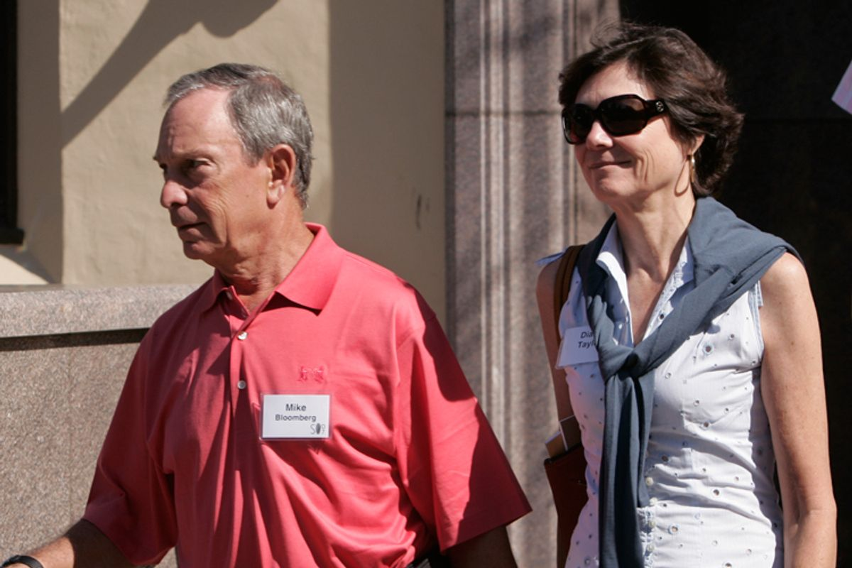 Michael Bloomberg and Diane Taylor      (AP)