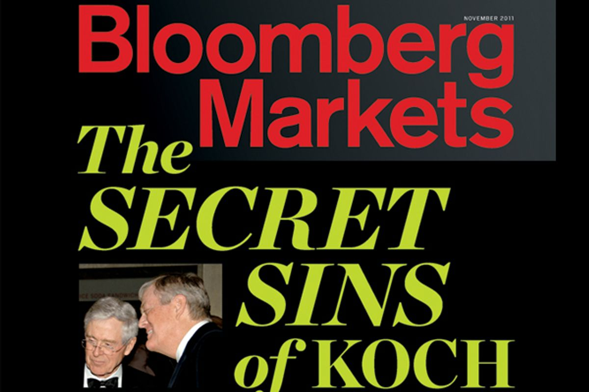 The cover of the new edition of Bloomberg Markets magazine.  (Bloomberg)