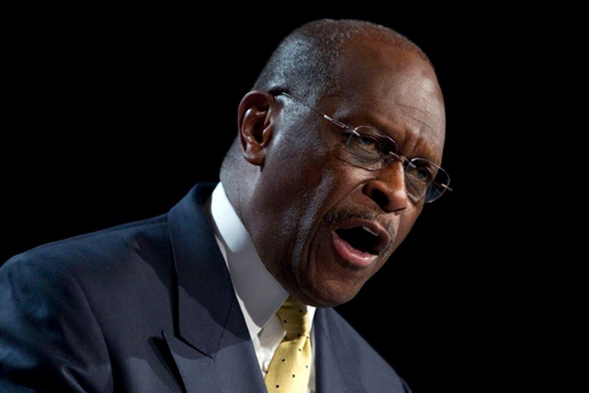 Republican presidential hopeful Herman Cain  (AP/Evan Vucci)