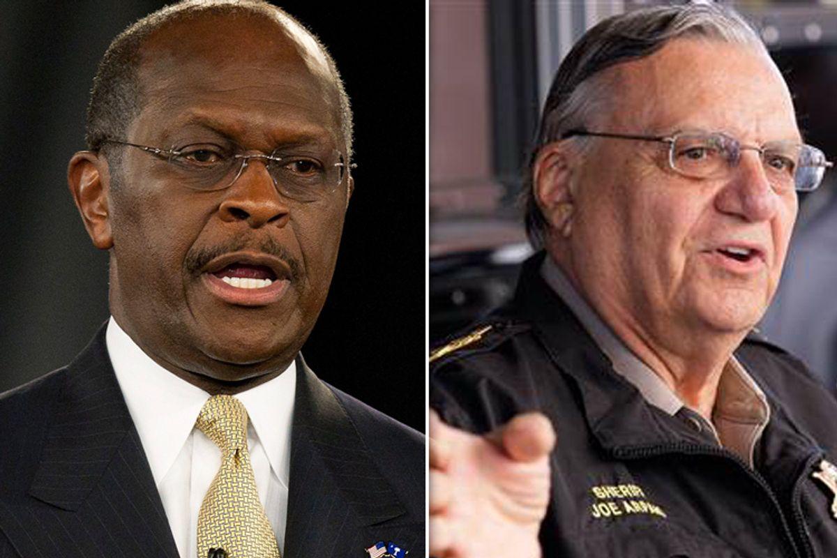 Herman Cain and Joe Arpaio      (Reuters/AP)
