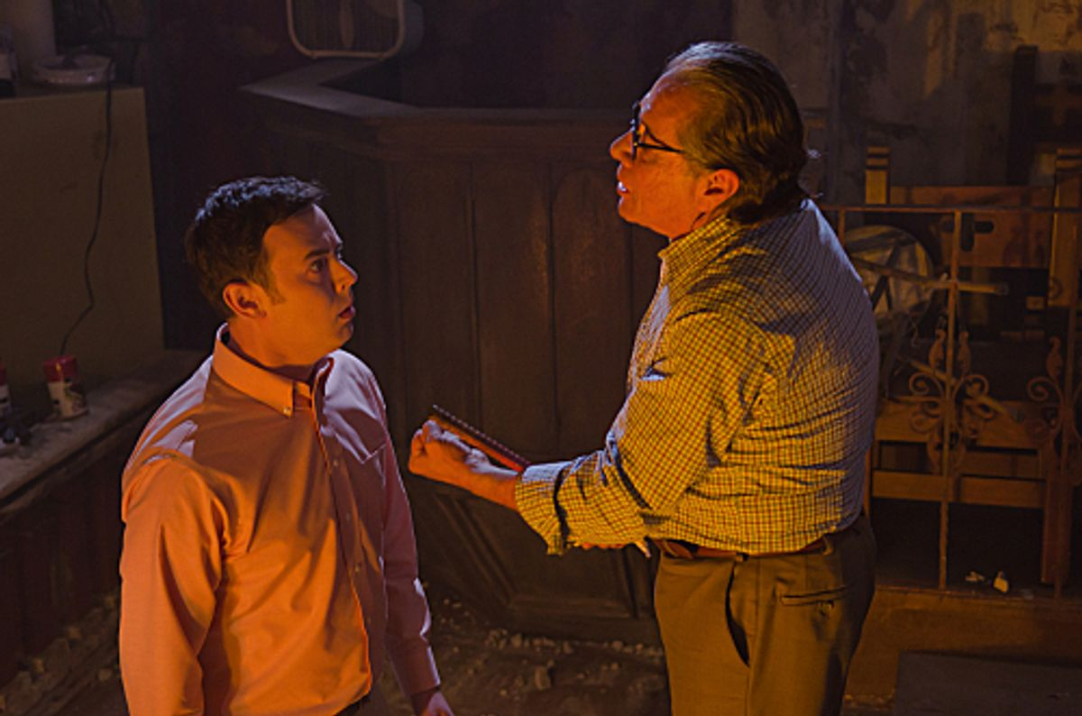 """Colin Hanks and Edward James Olmos in """"Dexter."""" (Randy Tepper/showtime)"""