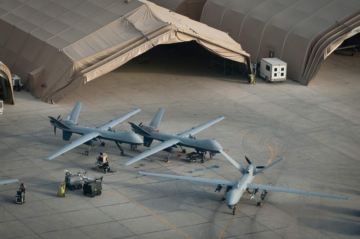 U.S. Reaper drones at Kandahar Airfield    (GlobalPost)