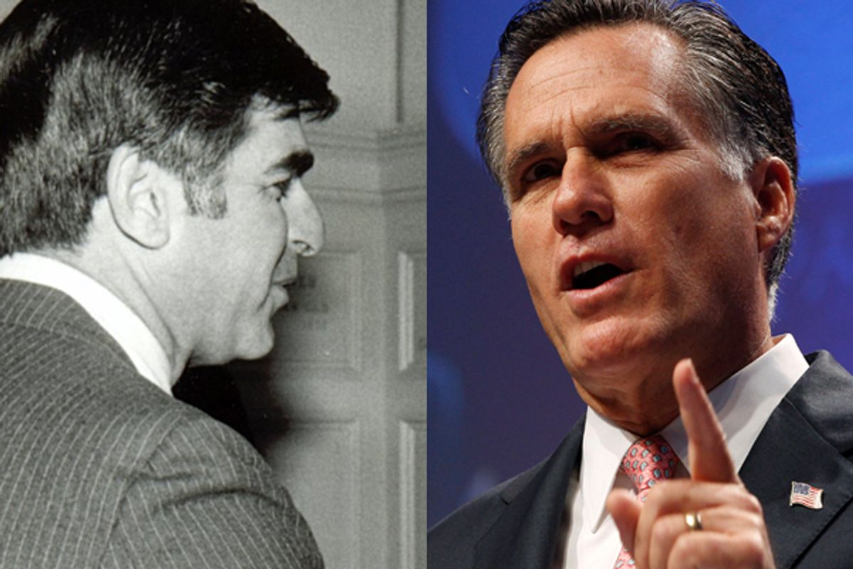 Michael Dukakis and Mitt Romney       (<span about='http://www.flickr.com/photos/andrewmalone/107748449/' xmlns:cc='http://creativecommons.org/ns#'><a href='http://www.flickr.com/photos/andrewmalone/107748449/' rel='cc:attributionURL' target='_blank'>Andrew Malone</a> / <a href='http://creativecommons.org/licenses/by/3.0/' rel='license' target='_blank'>CC BY 3.0</a></span> / Reuters)