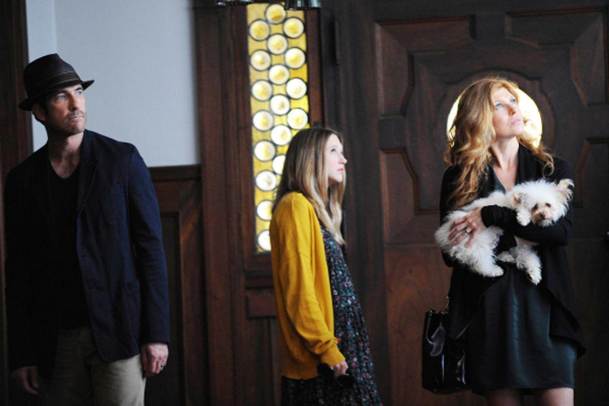 "Dylan McDermott, Taissa Farmiga and Connie Britton in ""American Horror Story"""