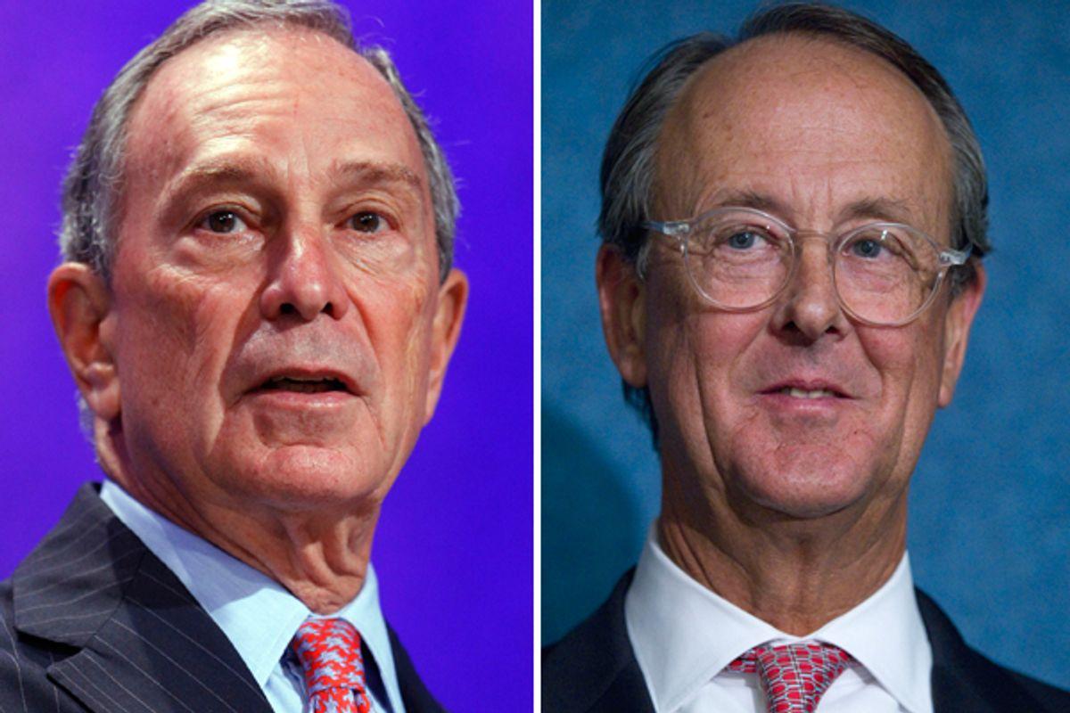 Michael Bloomberg and Erskine Bowles     (AP/Reuters)