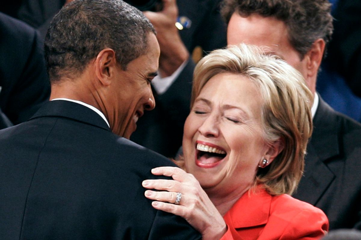 President Obama and Secretary of State Clinton   (Joshua Roberts / Reuters)