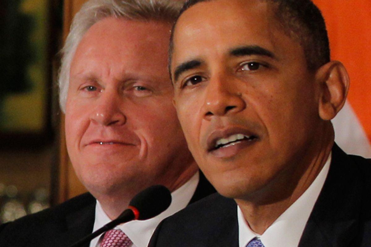 Jeffrey Immelt and Barack Obama     (AP/Charles Dharapak)