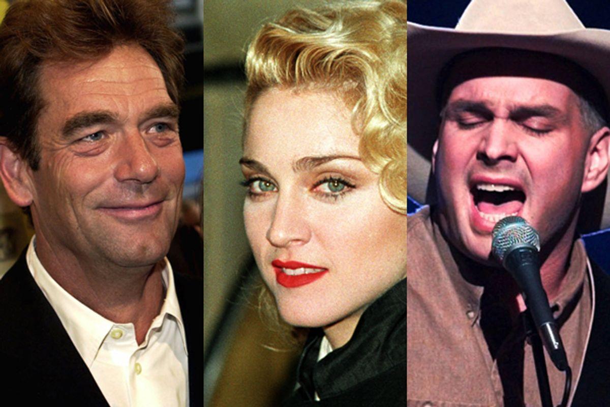 Huey Lewis (2001), Madonna (1986), Garth Brooks (1996)     (AP/Reuters)