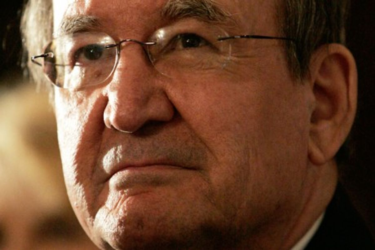 Pat Buchanan is shown at the 2007 N.H. Primary Awards Dinner in Manchester, N.H., Monday, 26, 2007