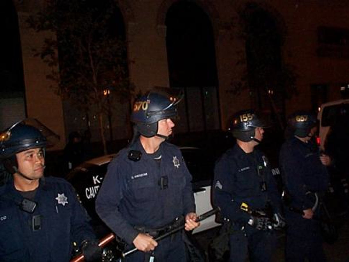 Riot police at Occupy Oakland on October 25, 2011  (Kevin Army)