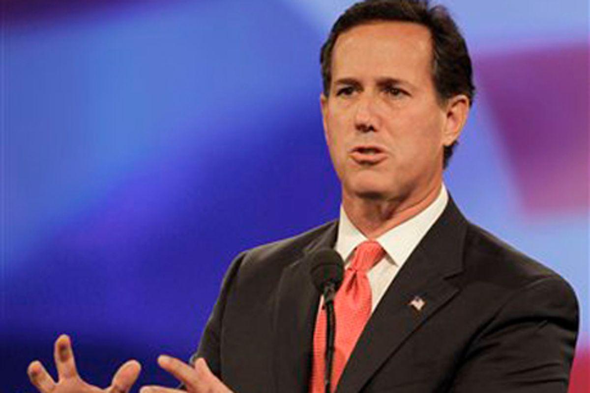 Republican presidential candidate Rick Santorum  (AP/John Raoux)