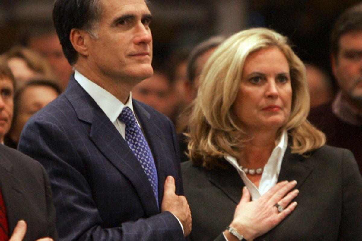 Mitt Romney with his wife Ann Romney   (AP)