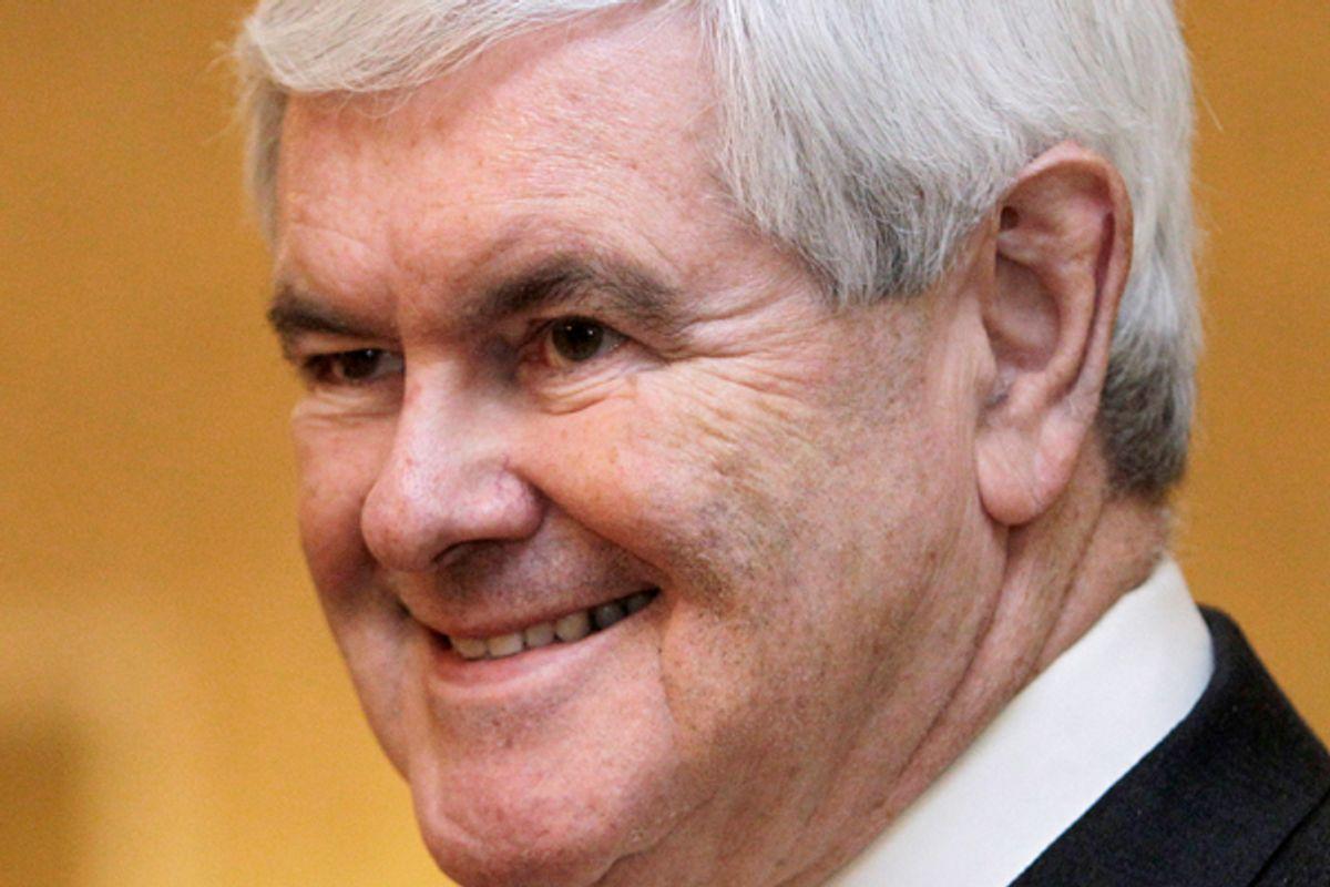Republican presidential candidate, former House Speaker Newt Gingrich   (AP/Tony Gutierrez)