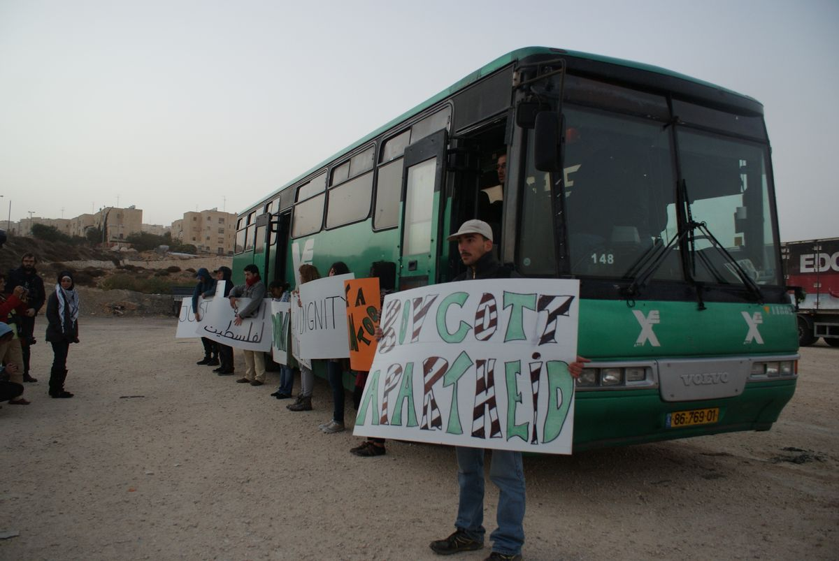 Palestinian freedom riders challenge segregated public transportation in the Israeli-occupied West Bank  (Khaled Diab)