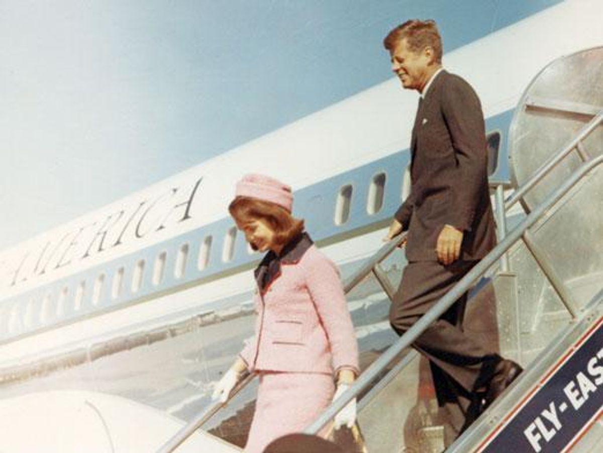 President John F. Kennedy and First Lady Jackie Kennedy arrive in Dallas on November 22, 1963.   (JFK Presidential LIbrary and Museum)