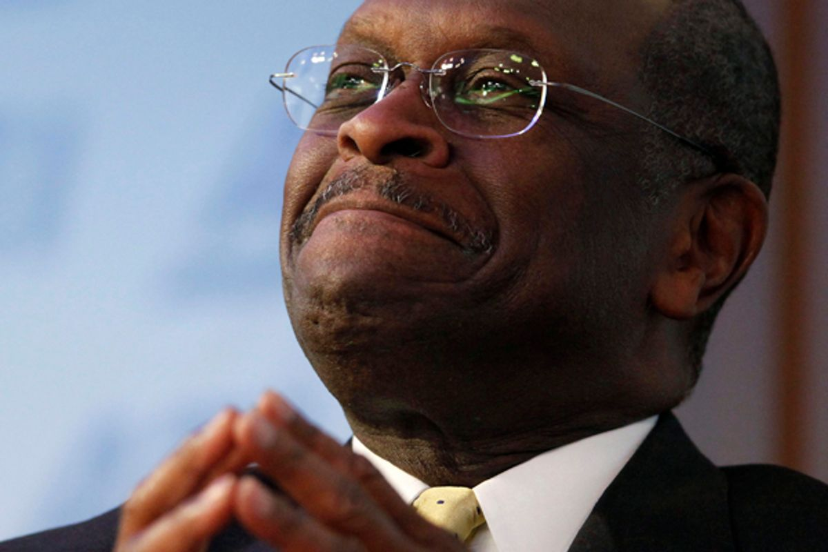 Republican presidential candidate Herman Cain       (Larry Downing / Reuters)