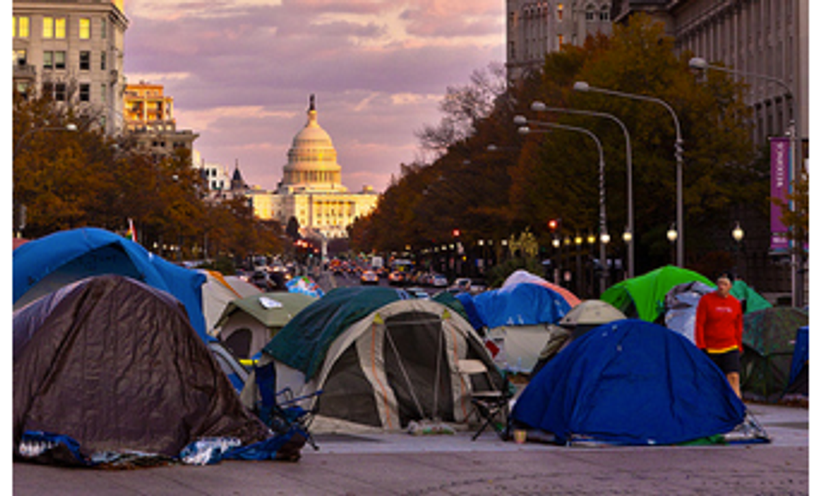 Freedom Plaza camp of OccupyDC   (Theqspeaks via Flickr (Creative Commons))