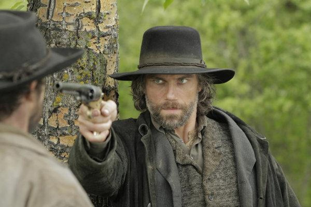 """Anson Mount stars as a former Confederate soldier working on the railroad in  """"Hell on Wheels"""" (AMC)."""