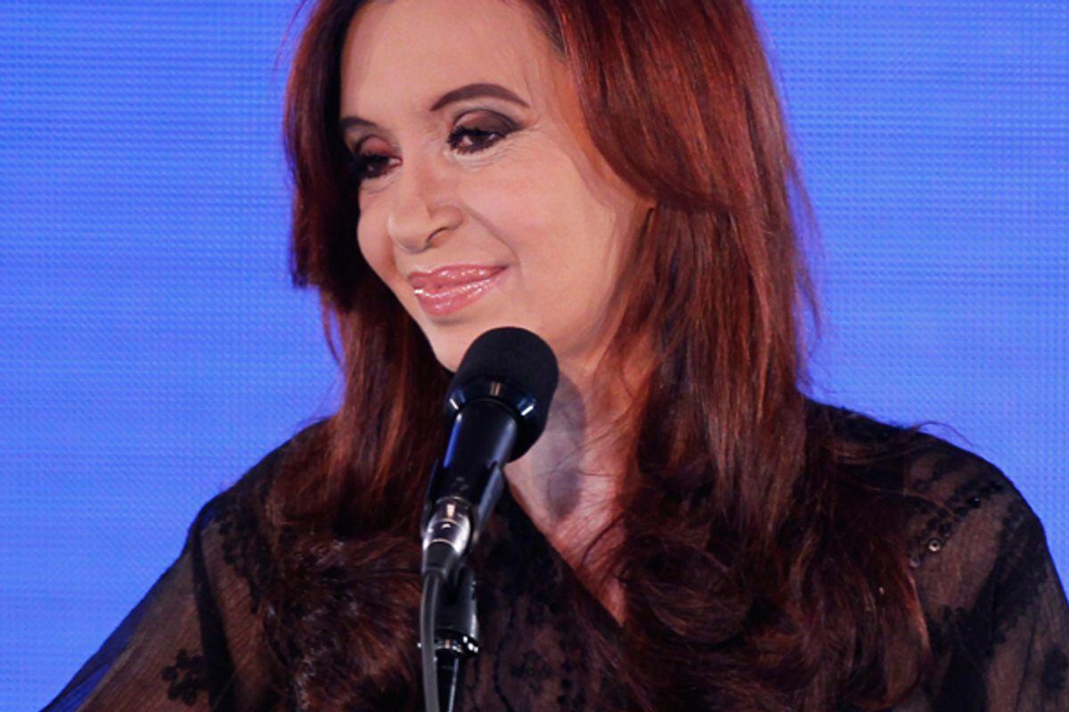 Cristina Fernandez de Kirchner  (Reuters/Enrique Marcarian)