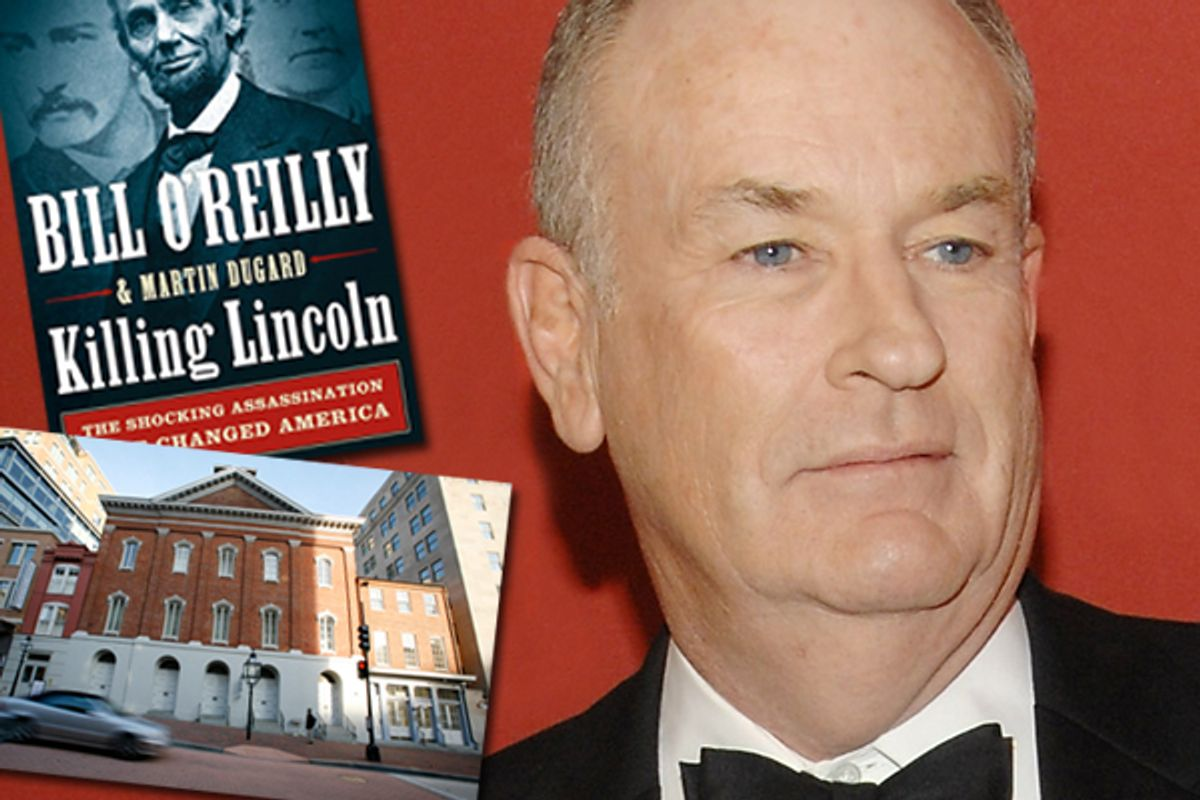 Bill O'Reilly and Ford's Theater (inset)  (AP/Reuters)