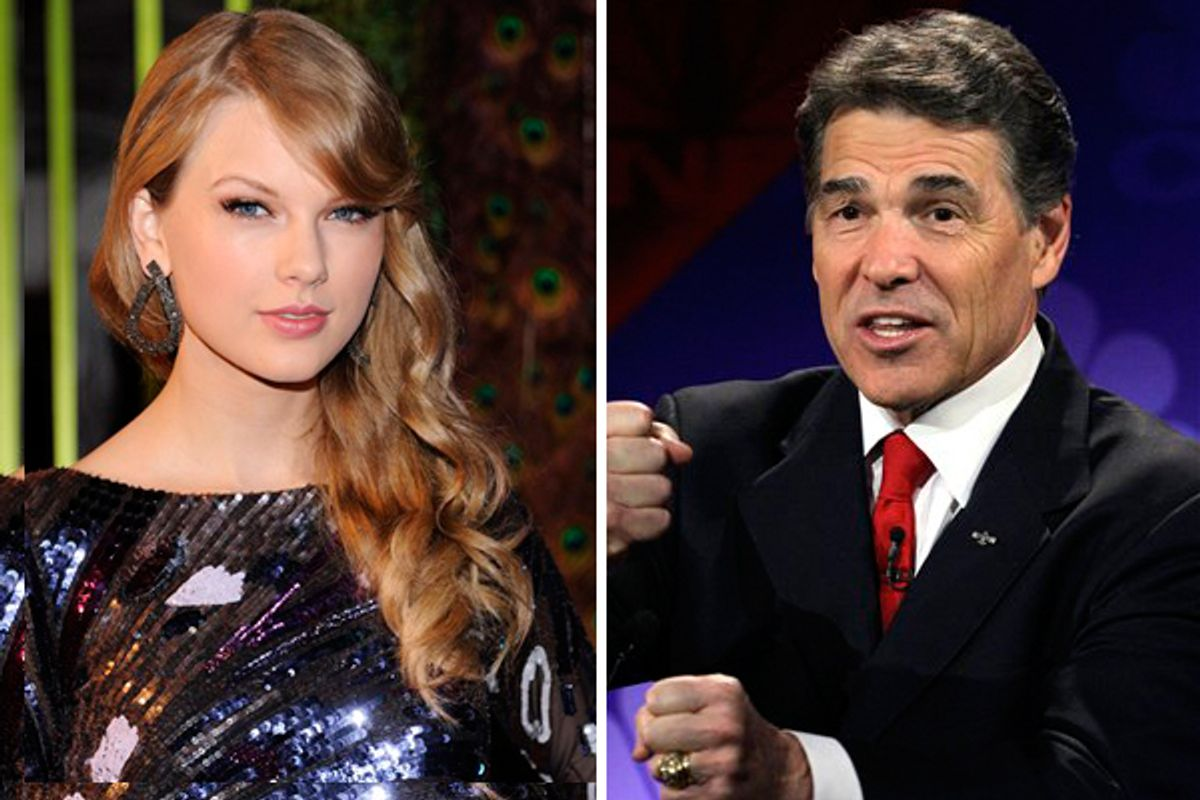 Taylor Swift and Rick Perry        (AP)