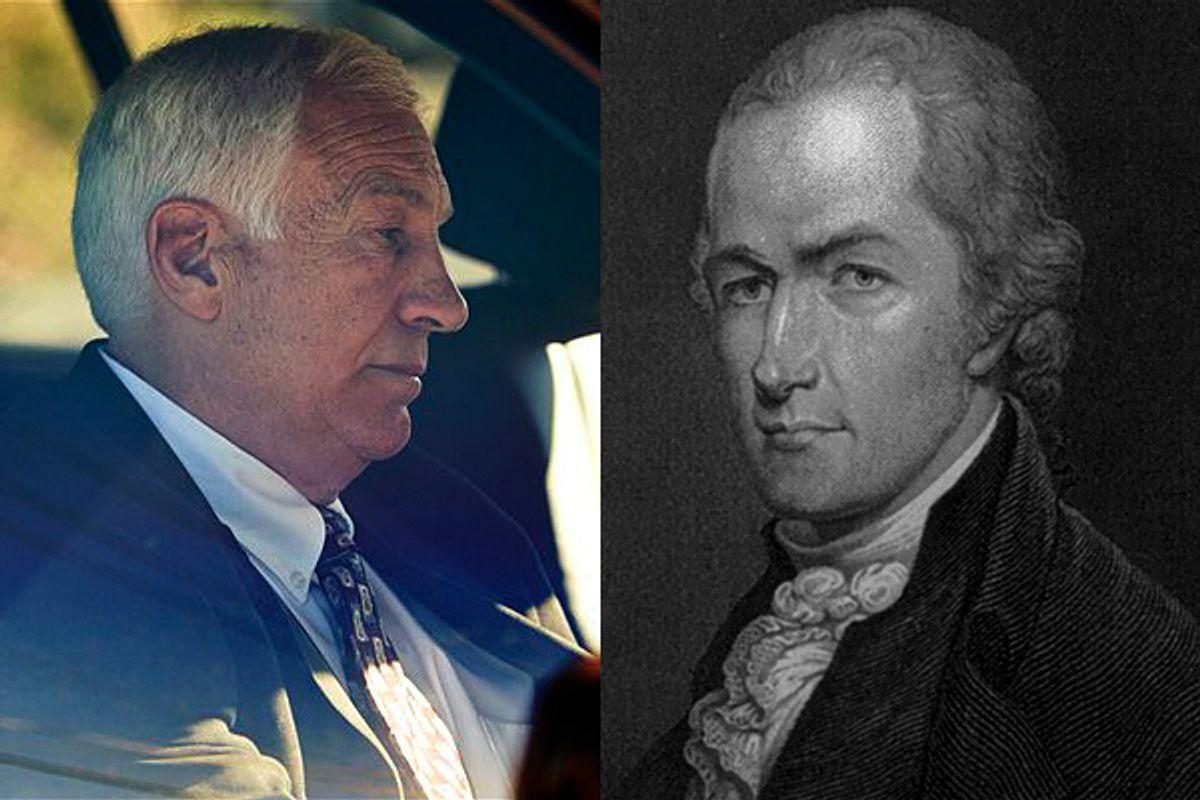 Jerry Sandusky and Alexander Hamilton          (AP/LOC)
