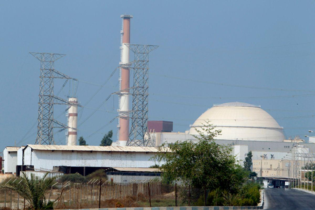 A view of Iran's Bushehr nuclear power plant  south of Tehran.          (Raheb Homavandi / Reuters)