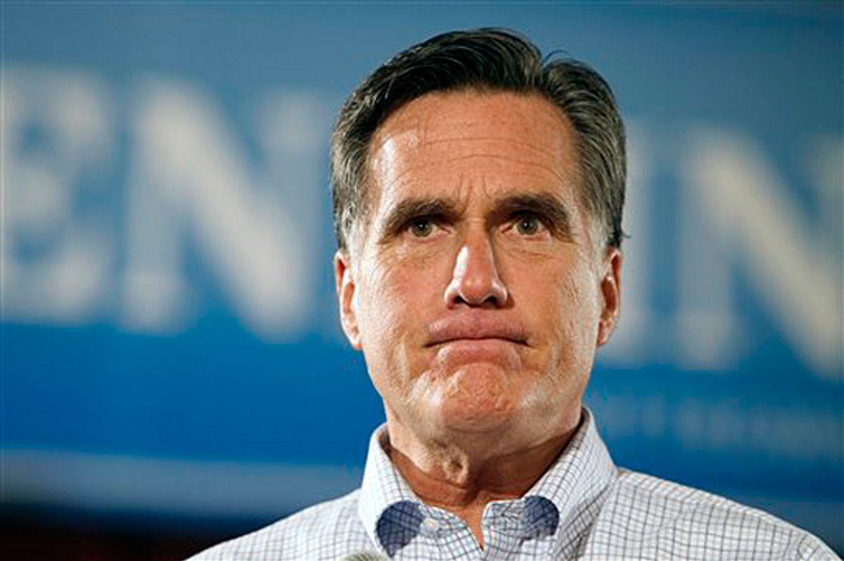 Republican presidential hopeful, former Massachusetts  Gov. Mitt Romney    (AP/Michael Dwyer)