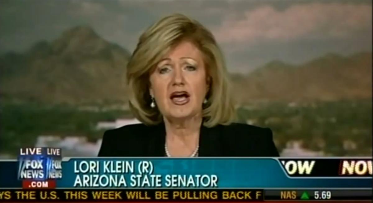 Arizona state Senator Lori Klein, who has never been harassed by Herman Cain  (YouTube/Fox News)