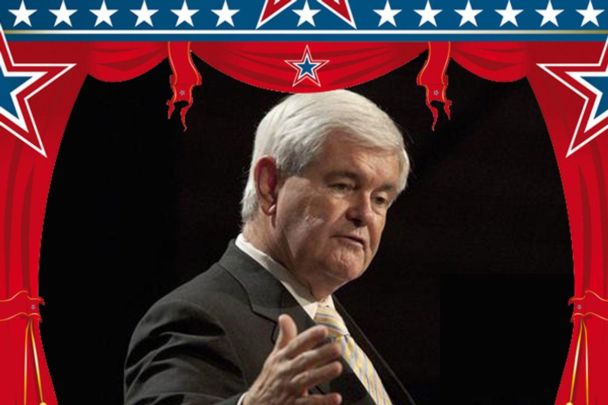 Newt Gingrich  (AP/<a href='http://www.shutterstock.com/gallery-201133p1.html'>Christophe Boisson</a> via <a href='http://www.shutterstock.com/'>Shutterstock</a>)